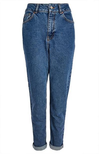 Blue Stretch Mom Jeans offer at $20