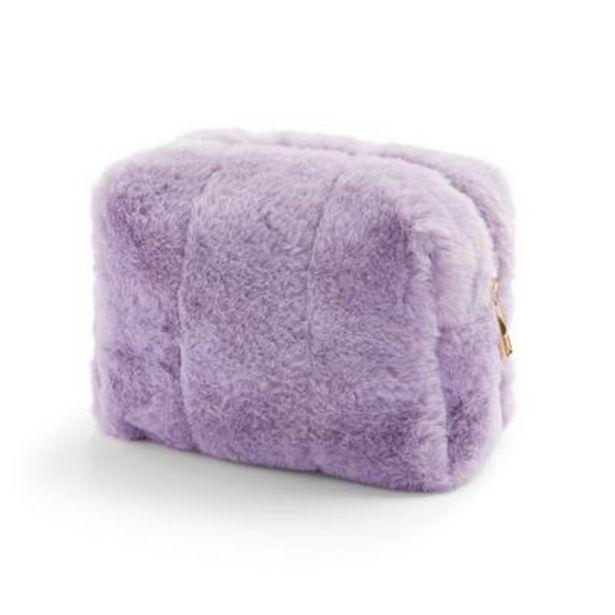 Lilac Faux Fur Makeup Bag deals at $6