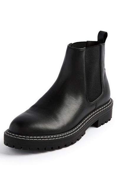 Black Chunky Chelsea Boots offer at $21