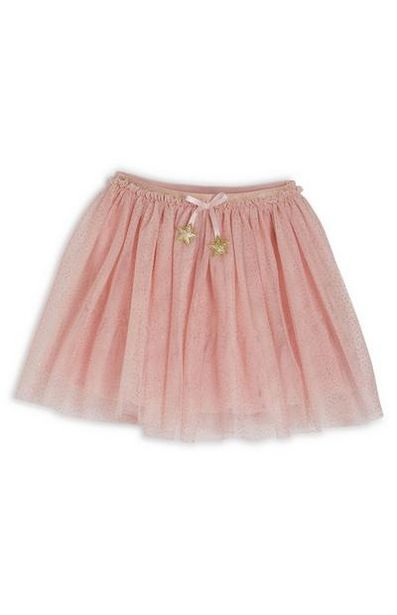 Younger Girl Pink Star Tutu Skirt deals at $12