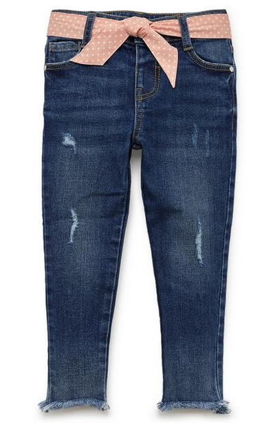 Younger Girl Belted Blue Jeans offer at $13