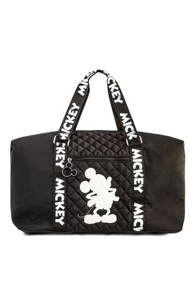 Black Mickey Mouse Nylon Weekend Bag offer at $22
