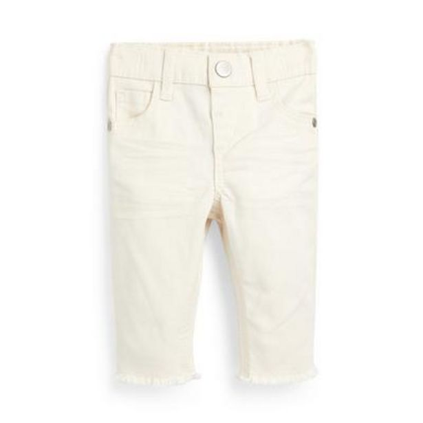 Baby Girl Ivory Twill Pants deals at $8