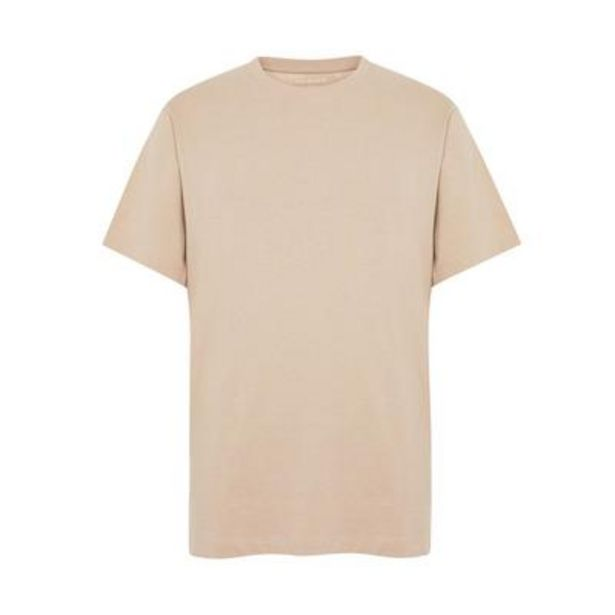Beige Cotton Boxy T-Shirt deals at $8