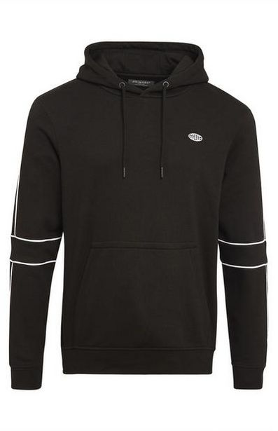 Hoodie with Black and White Piping deals at $20
