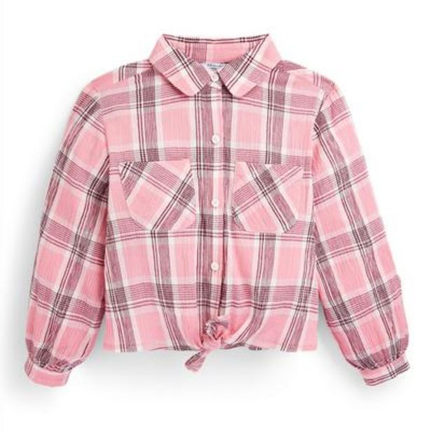 Older Girl Pink Plaid Shirt deals at $10