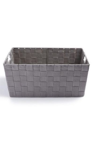 Gray Medium Woven Basket deals at $5