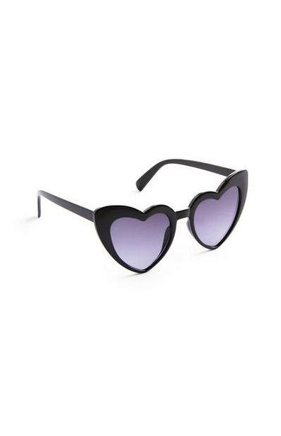Black Plastic Heart Sunglasses offer at $3.5