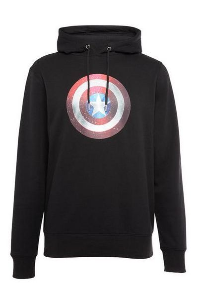 Black Captain America Hoodie offer at $16