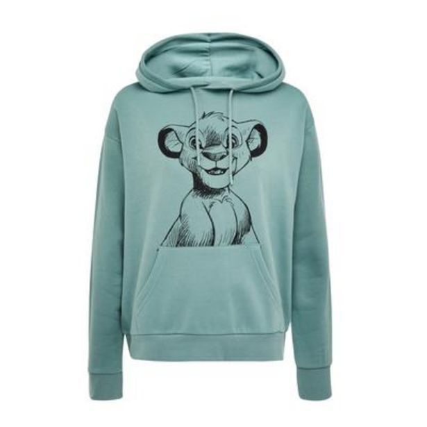 Turquoise The Lion King Simba Print Pullover Hoodie deals at $14