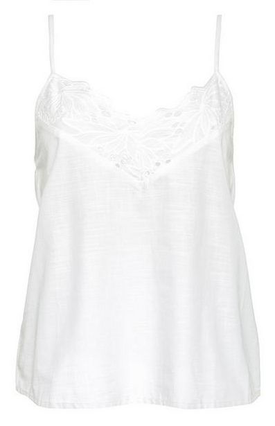 White Lace Trim Cami offer at $9