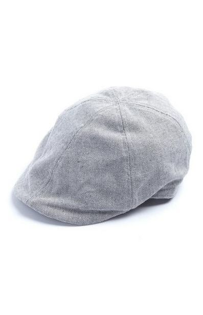 Gray Herringbone Flat Cap deals at $6