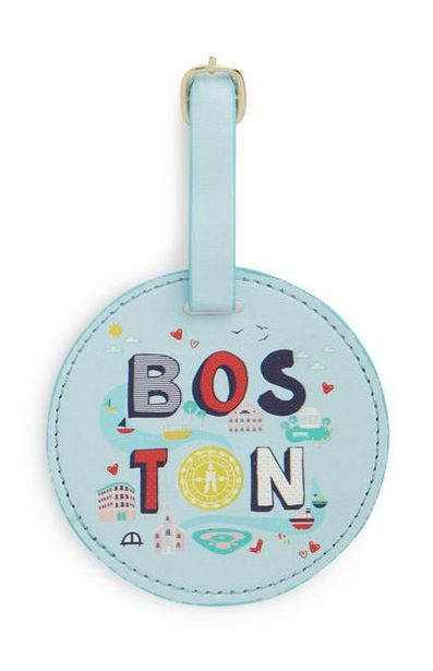 Blue Boston Luggage Tag deals at $3