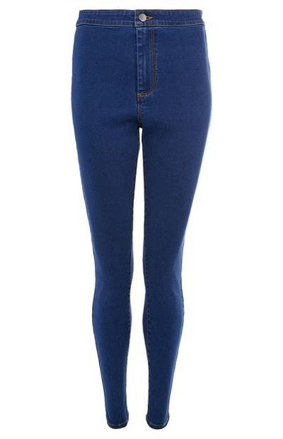 Dark Blue High Waist Jeans offer at $15