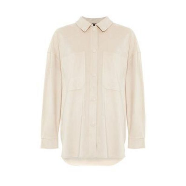 Ivory Faux Suede Overshirt deals at $22