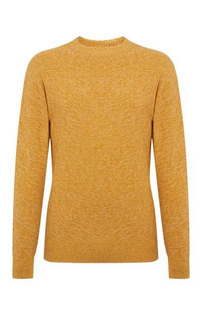 Yellow Moss Stitch Sweater offer at $15
