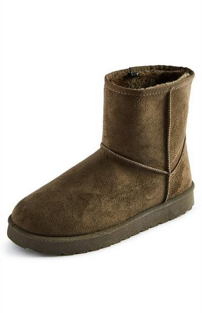 Tan Faux Suede Cozy Lining Boots offer at $8