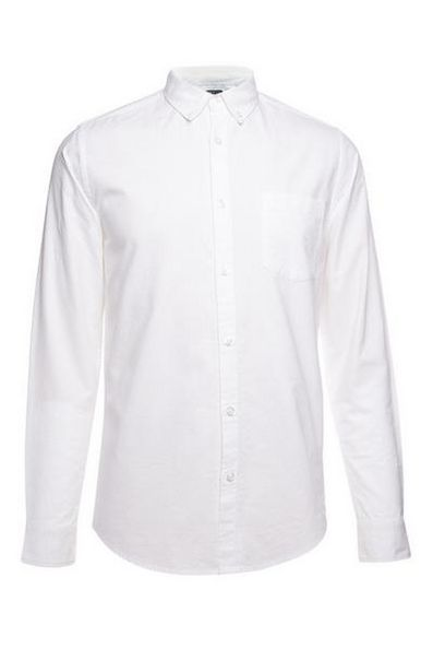 White Oxford Long Sleeve Shirt deals at $12