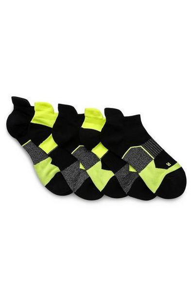 5-Pack Black And Green Performance Socks deals at $7