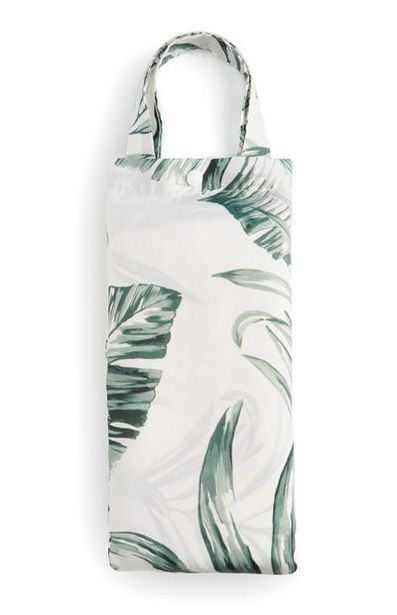 White Leaf Print Shower Curtain offer at $8