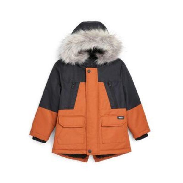 Younger Boy Rust Color Block Parka deals at $26