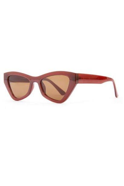 Red Chunky Angular Cat Eye Sunglasses offer at $3.5