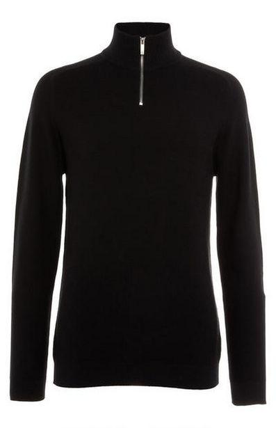 Black Half Zipper Sweater offer at $20