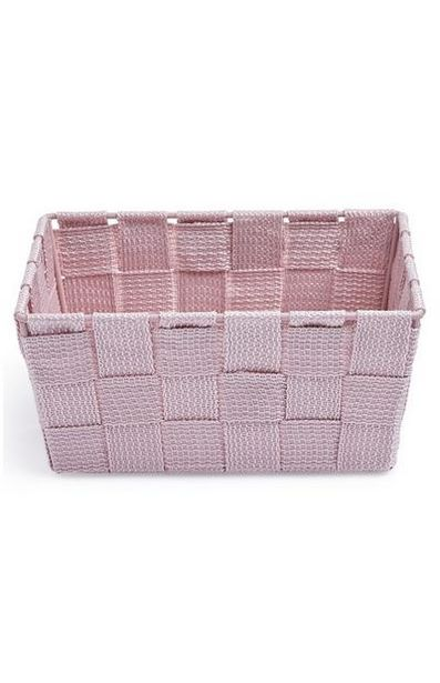 Pink Mini Woven Basket offer at $2.5
