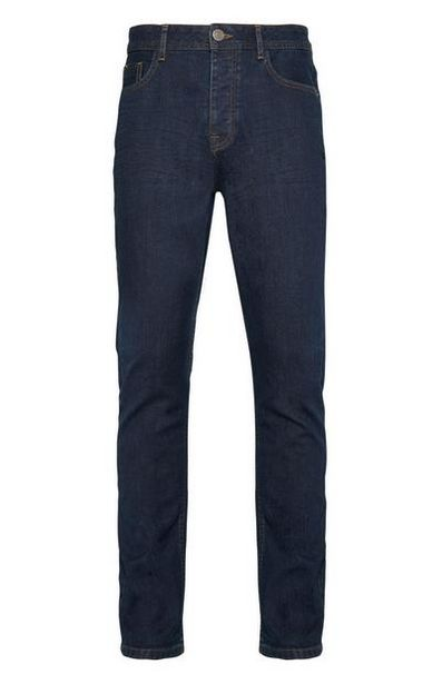 Dark Blue Rinse Stretch Slim Jeans offer at $16