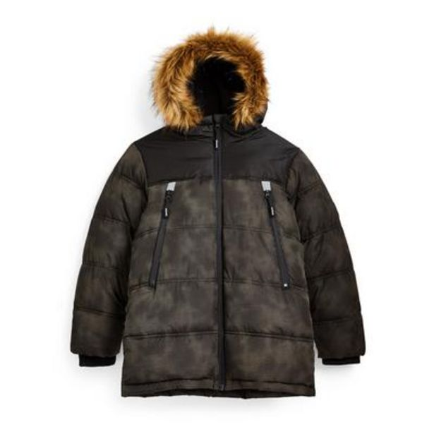 Older Boy Reflective Camouflage Puffer Jacket deals at $28