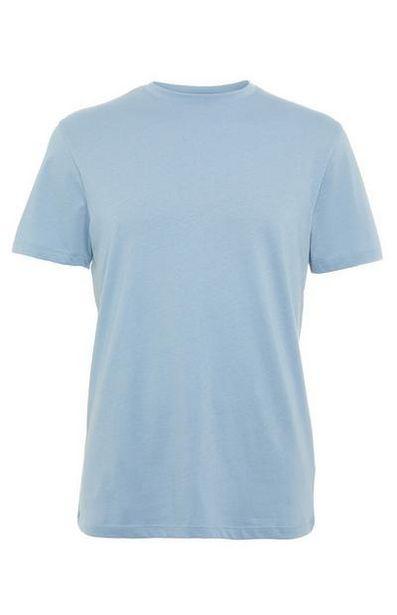 Light Blue Tailored Fit Crew Neck T-Shirt deals at $3.5