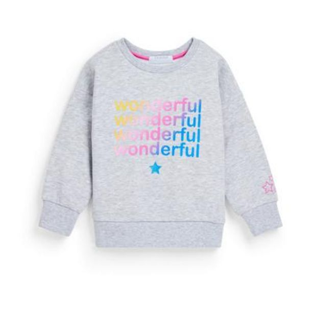 Younger Girl Gray Crew Neck Sweater deals at $6