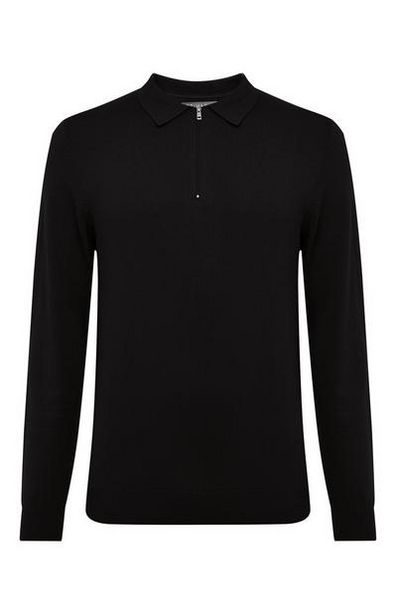 Black Polo Sweater offer at $20