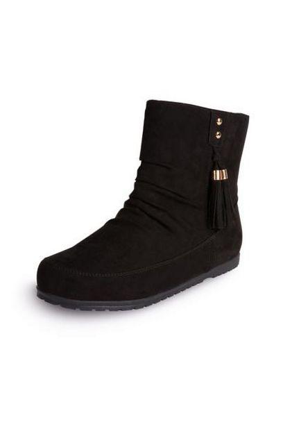 Black Tassel Boots deals at $11