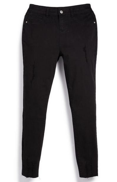Older Girl Black Ripped Twill Pants offer at $10