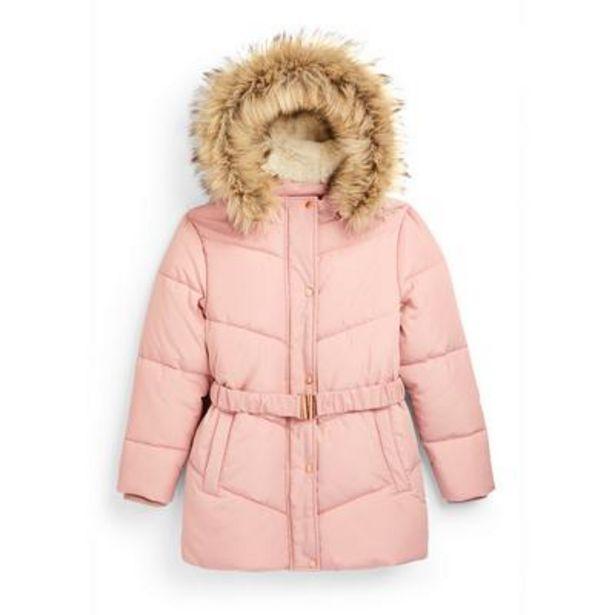 Older Girl Pink Padded Belted Jacket deals at $28