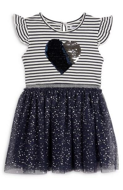 Younger Girl 2-in-1 Navy Tutu Dress offer at $13