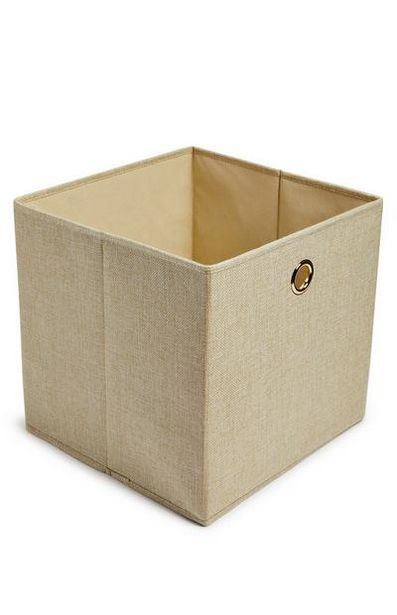 Natural Solid Woven Cube Storage Box deals at $4