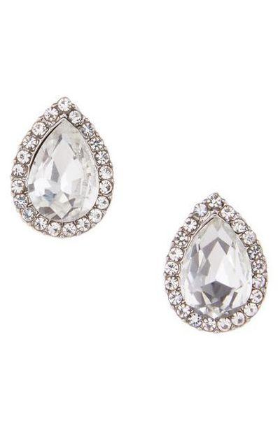 Rhinestone Teardrop Stud Earrings offer at $2.5