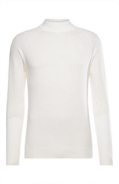 White Mock Neck Sweater offer at $17