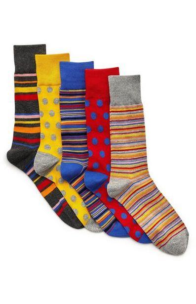5-Pack Multi Striped Socks deals at $8