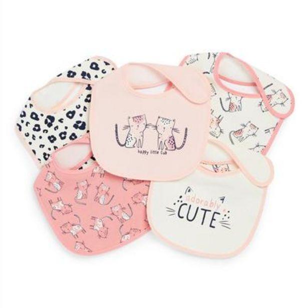 5-Pack Baby Girl Cub Print Plastic Bibs deals at $5