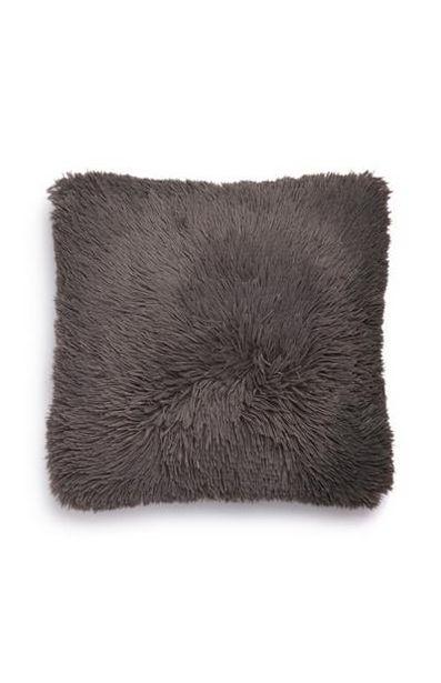 Dark Gray Pompom Square Cushion offer at $6