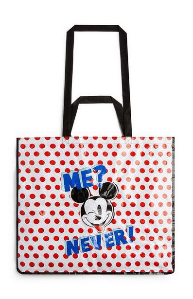 White And Red Polka Dot Mickey Mouse Shopper offer at $5