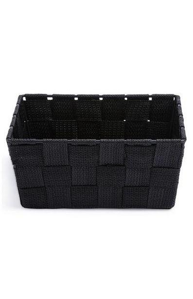 Black Mini Woven Basket offer at $2.5