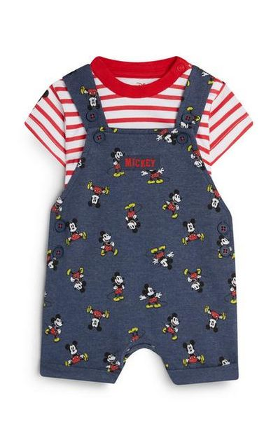 Baby Boy Mickey Mouse Playsuit And Top Set offer at $15