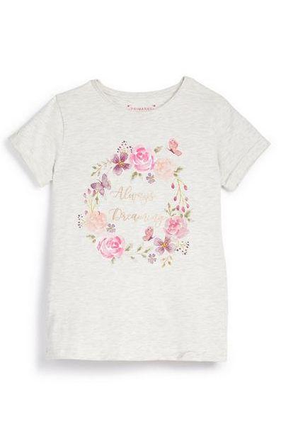 Older Girl Floral Always Dreaming Print T-Shirt offer at $4