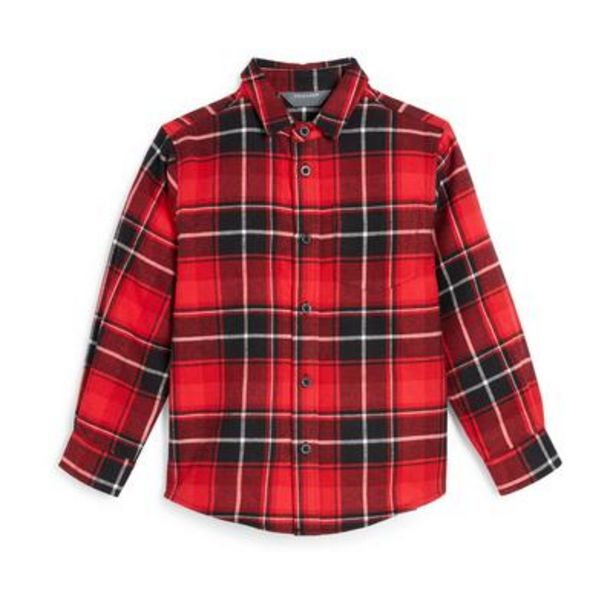 Younger Boy Red Plaid Shirt deals at $8