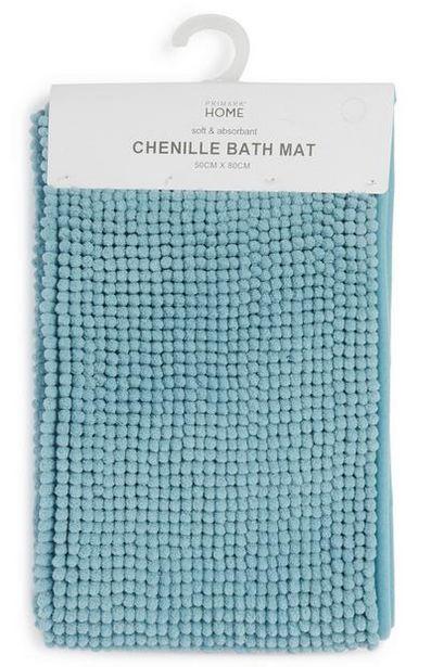 Sky Blue Chenille Bath Mat offer at $8