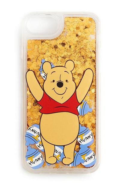 Yellow Glitter Winnie The Pooh Phone Case deals at $4